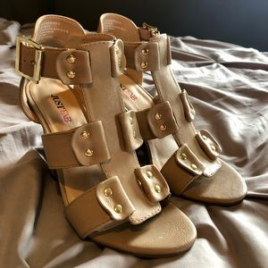 Tan JustFab Wedges